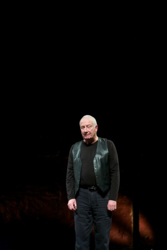 John Tilbury smiles during applause after the performance