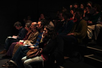 The audience during a discussion at Episode 4 Freedom is a constant struggle