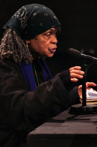 Sonia Sanchez speaking during Episode 4
