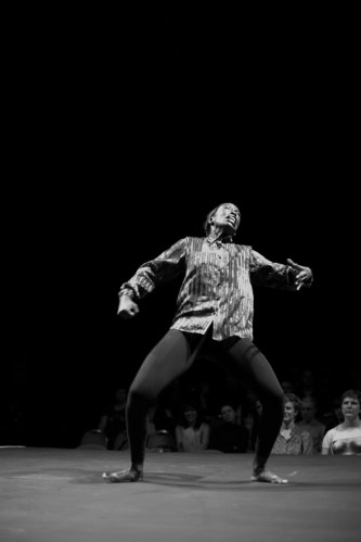 Miss Prissy dances fiercely during a solo dance