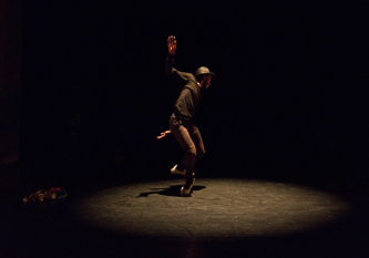 Storyboard P dancing on stage at EPISODE 9, Tramway, Glasgow