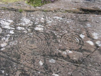 A rock carving in Kilmartin Glen, Argyl