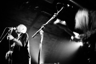 Kan Mikami singing with Vajra at INSTAL 04 Arches Glasgow
