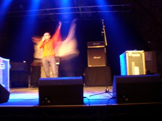 Whitehouse on stage at INSTAL 03 in The Arches Glasgow