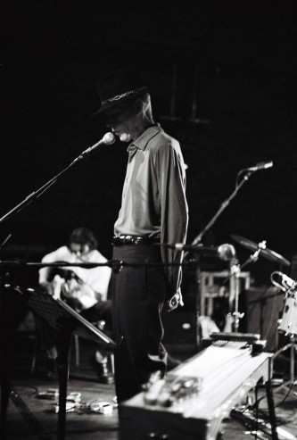 Jandek and Loren Connors on stage