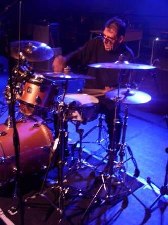 Tom Bruno playing the drums