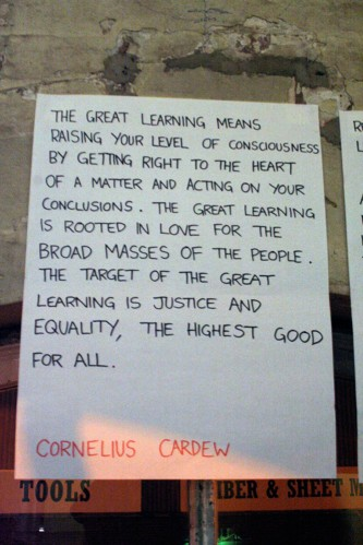 The great learning means raising the level of your consciousness... quote