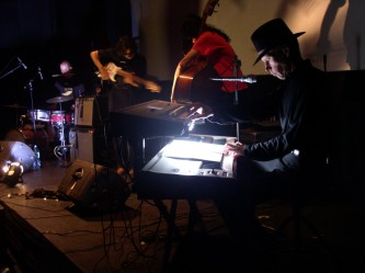 Jandek accompanied by bass player, Chris Corsano and Loren Connors