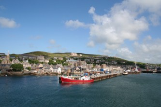 Stromness Harbour seen from the ferry