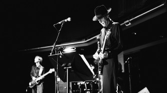 Jandek and Richard Youngs onstage at MLFC 05