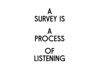 A survey is a process of listening