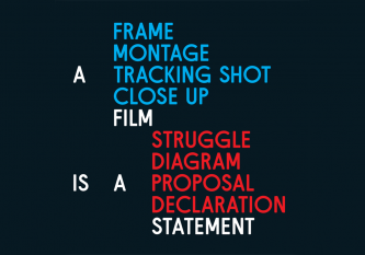 A Film is a Statement Poster Graphic