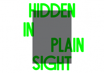 Hidden In Plain Sight Poster Graphic