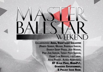 A flyer in black and grey that says Master BallStar Weekend