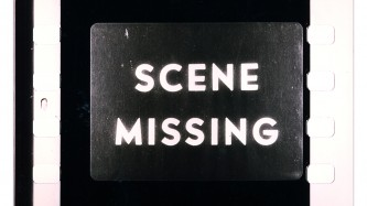 """A film frames has the words """"Scene Missing"""" displayed"""