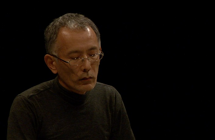 Seijiro Muruyama concentrates during a performance with Diego Chamy