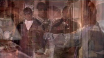 A layers image of several frames from a video by R. Kelly